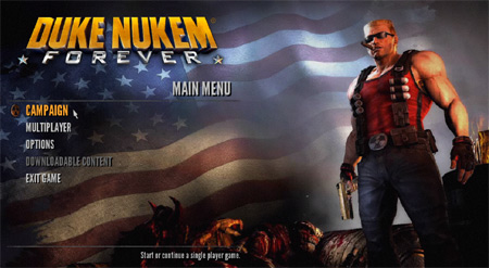duke nukem forever front end