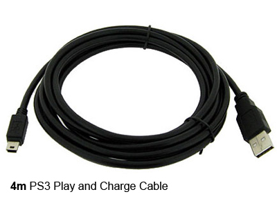 4m ps3 play charge usb cable