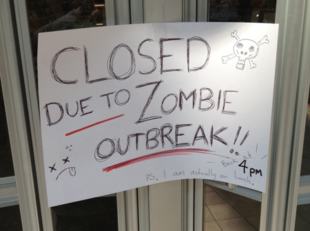 game store zombie outbreak
