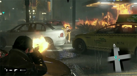 watch dogs fire fight