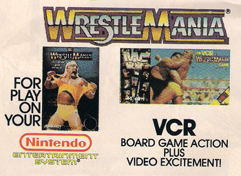 wrestlemania vhs board game