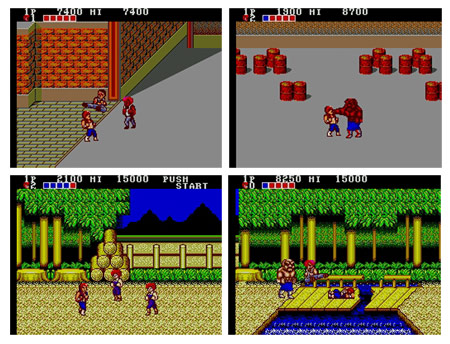 Double Dragon master system negatives