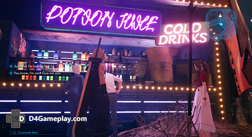 Fast Food stores being interactive in FF7 Remake