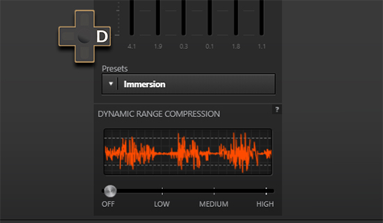 steelseries dynamic sound compression